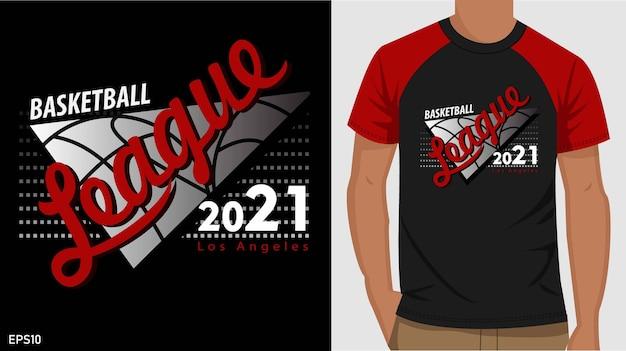 Design de t-shirt de basquete. design de t-shirt tipográfica