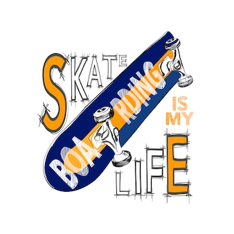 Design de t-shirt de skate.