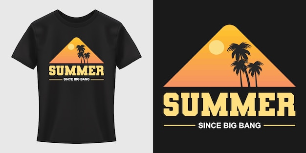 Design de t-shirt de tipografia de verão