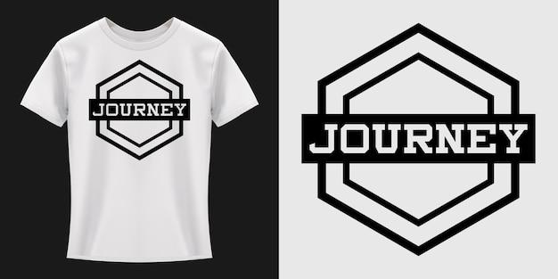 Design de t-shirt de tipografia journey