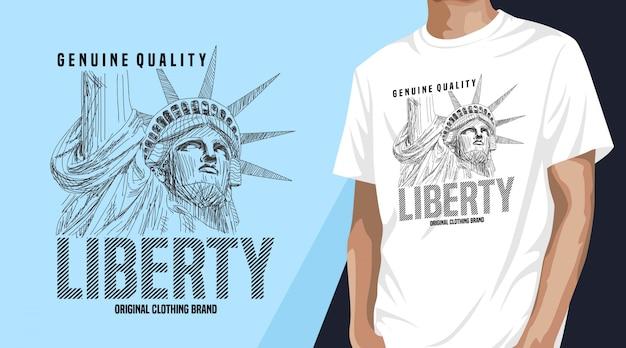 Design de t-shirt liberty para impressão