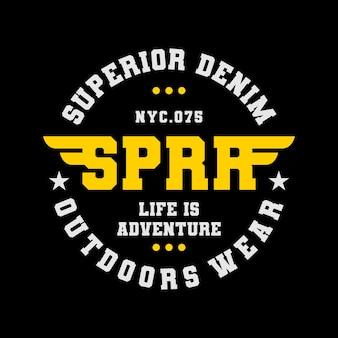 Design de t-shirt tipografia para roupas ao ar livre