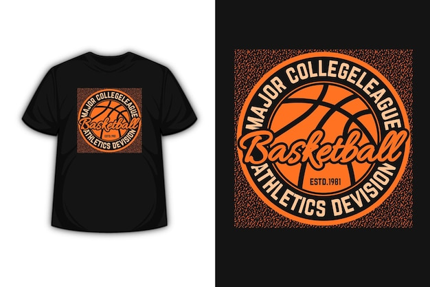 Design de t-shirt tipográfica de basquete