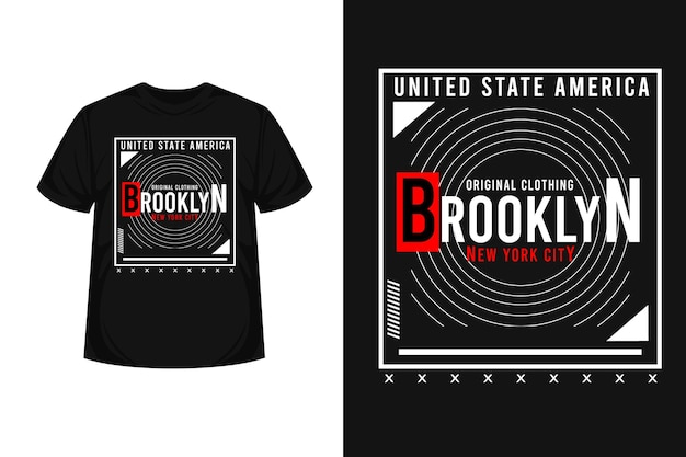 Design de t-shirt tipográfica em brooklyn nova iorque