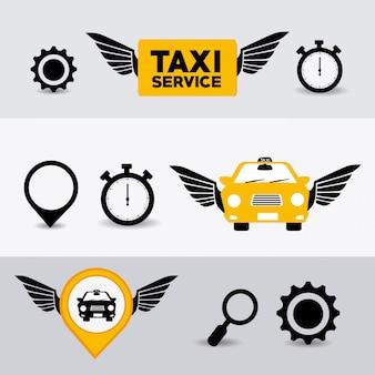 Design de táxi.