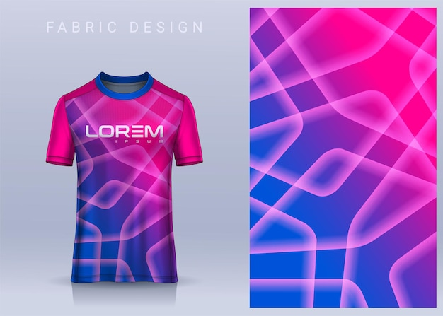Design de tecido têxtil para camiseta esportiva camisa de futebol para vista frontal do uniforme do clube de futebol
