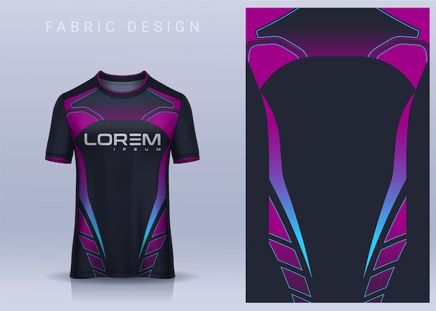 Design de tecido têxtil para camiseta esportiva camiseta de futebol para vista frontal do uniforme do clube de futebol