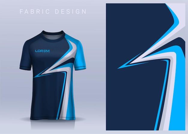 Design de tecido têxtil para camiseta esportiva. modelo de camisa de futebol para vista frontal do uniforme do clube de futebol