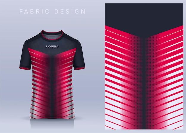 Design de tecido têxtil para camiseta esportiva modelo de camisa de futebol para vista frontal do uniforme do clube de futebol