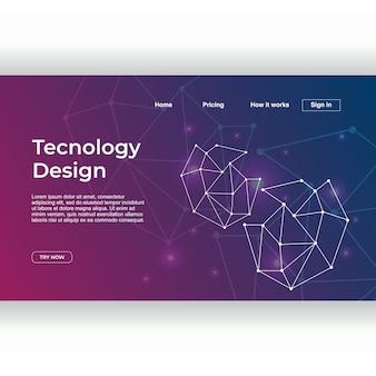 Design de tecnologia de modelo de página de destino com gradiente de neurônio