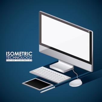 Design de tecnologia, ilustração vetorial.