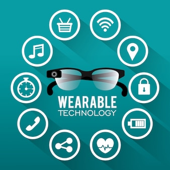 Design de tecnologia wearable.