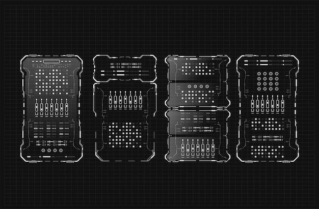 Design de tela de interface futurista do hud