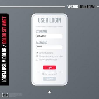 Design de tela de login