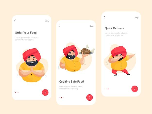 Design de tela plana para aplicativos