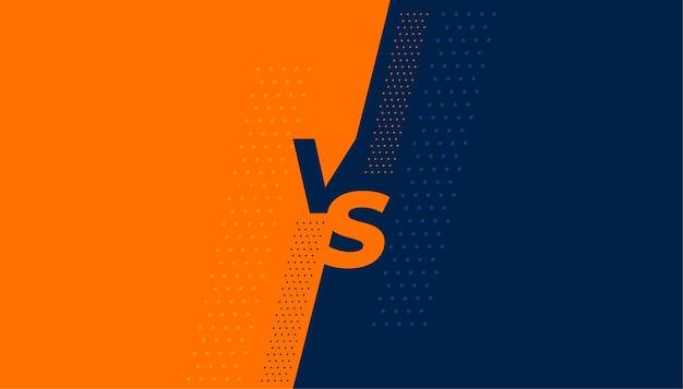 Design de tela plana versus vs banner