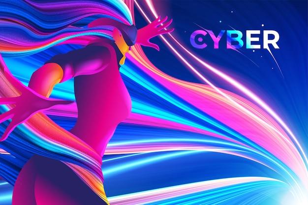 Design de tema cibernético