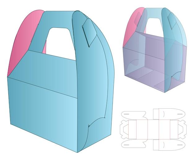 Design de template de embalagem de caixa