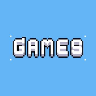 Design de texto de jogos de pixel art.