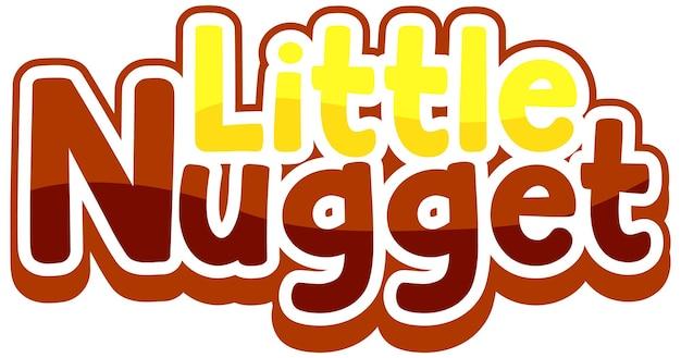 Design de texto do logotipo little nugget