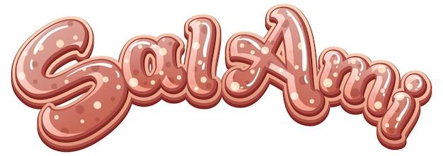 Design de texto do logotipo salami