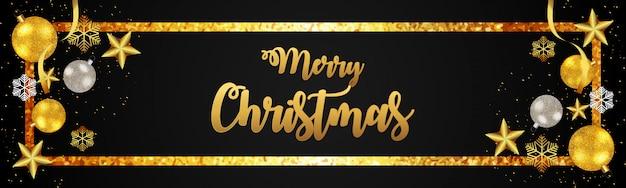 Design de texto dourado para banner de natal 2019