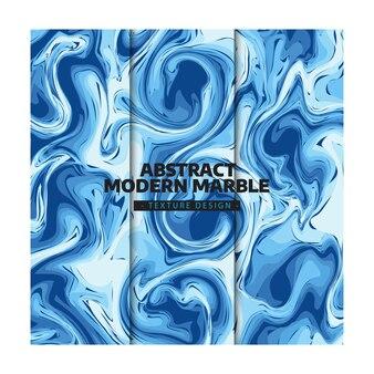 Design de textura de mármore azul moderno abstrato