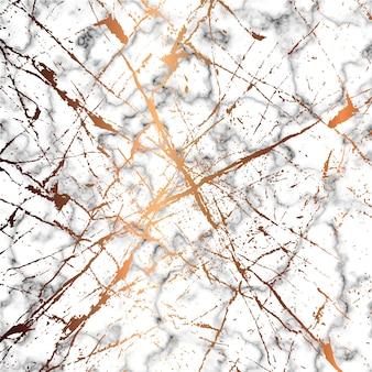 Design de textura de mármore com linhas de splatter douradas, superfície de mármore preto e branco, fundo moderno e luxuoso