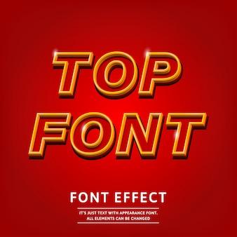 Design de tipo de letra de contorno vermelho 3d bold (realce) para design de título título simples moderno quente