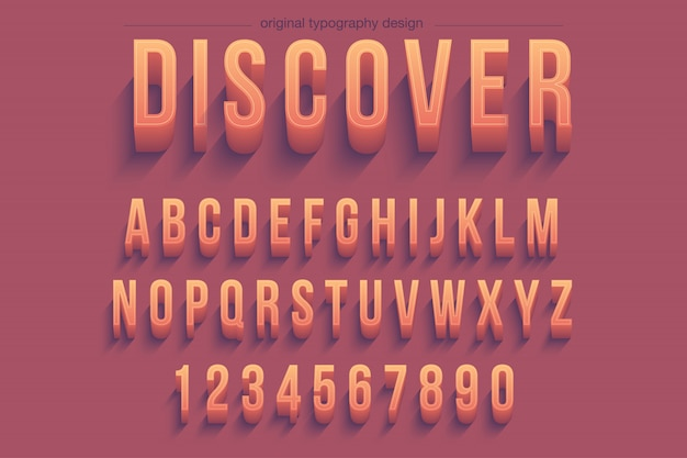 Design de tipografia 3d bold (realce) vibrante