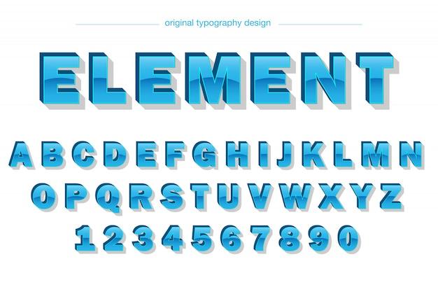 Design de tipografia azul brilhante