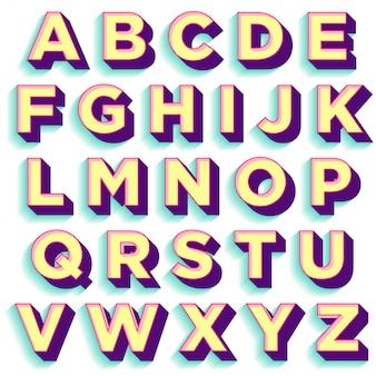 Design de tipografia colorida estilo retro