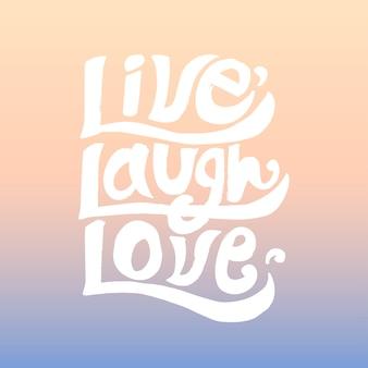 Design de tipografia de amor riso ao vivo