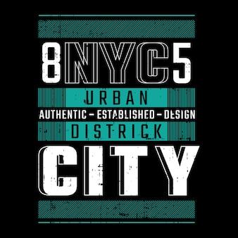 Design de tipografia de camisetas em nova york Vetor Premium
