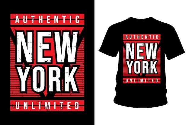 Design de tipografia de camisetas em nova york