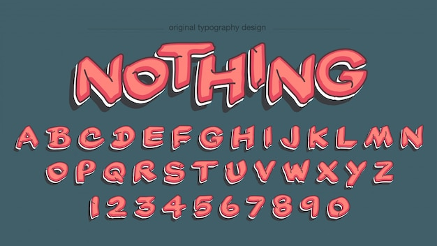 Design de tipografia de estilo graffiti vermelho