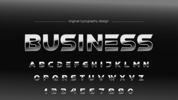 Design de tipografia de gradiente de cromo