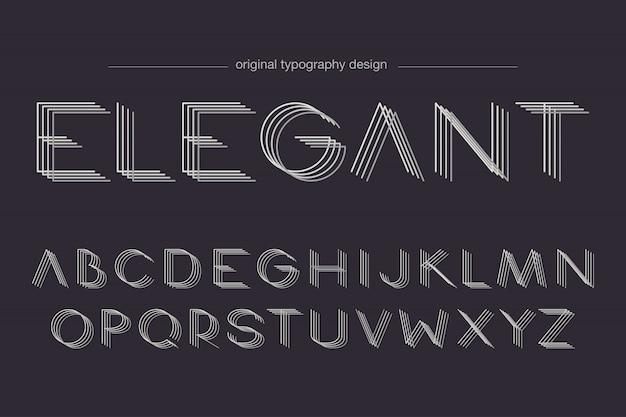 Design de tipografia de linhas elegantes