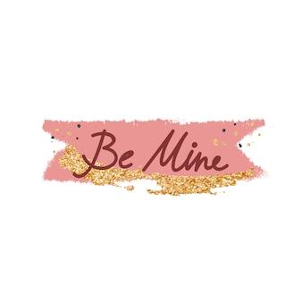 Design de tipografia doce mensagem dos namorados