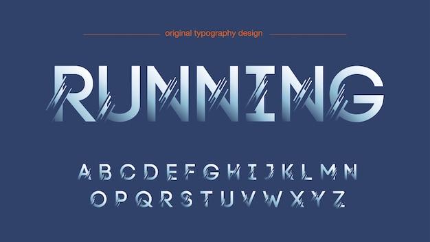 Design de tipografia fatiada abstrata