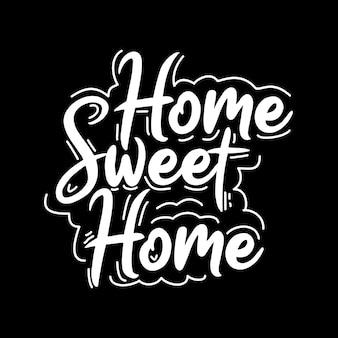 Design de tipografia para casa doce lar