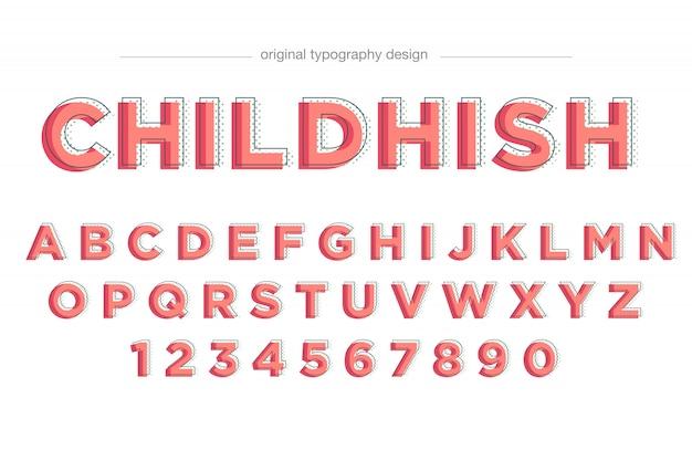 Design de tipografia vermelho bonito simples
