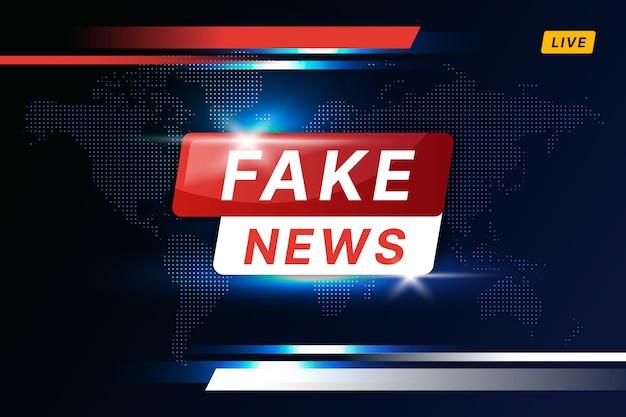 Design de transmissão de notícias falsas