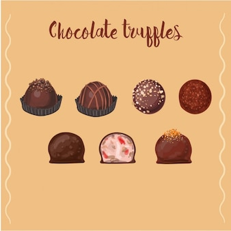 Design de trufas de chocolate