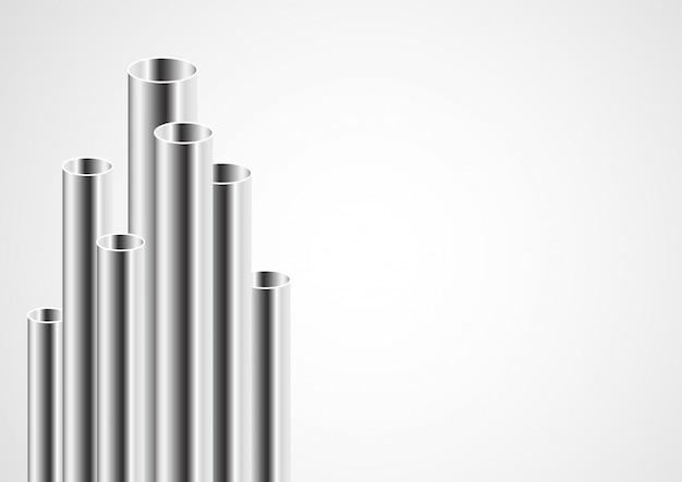 Design de tubos de aço 3d