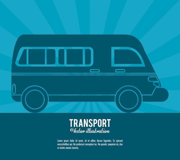 Design de veículo de transporte de van