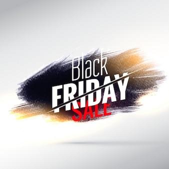 Design de venda cartaz surpreendente sexta feira preta, com efeitos de pintura