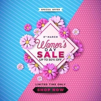 Design de venda do dia das mulheres