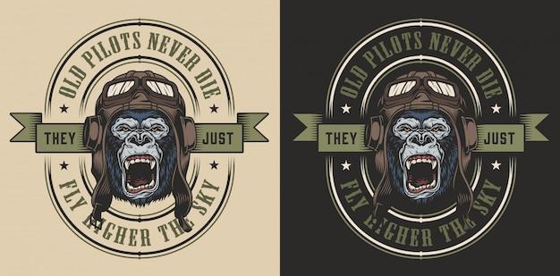 Design de vestuário com gorila