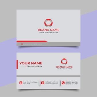 Design de vetor criativo moderno profissional cartão de visita